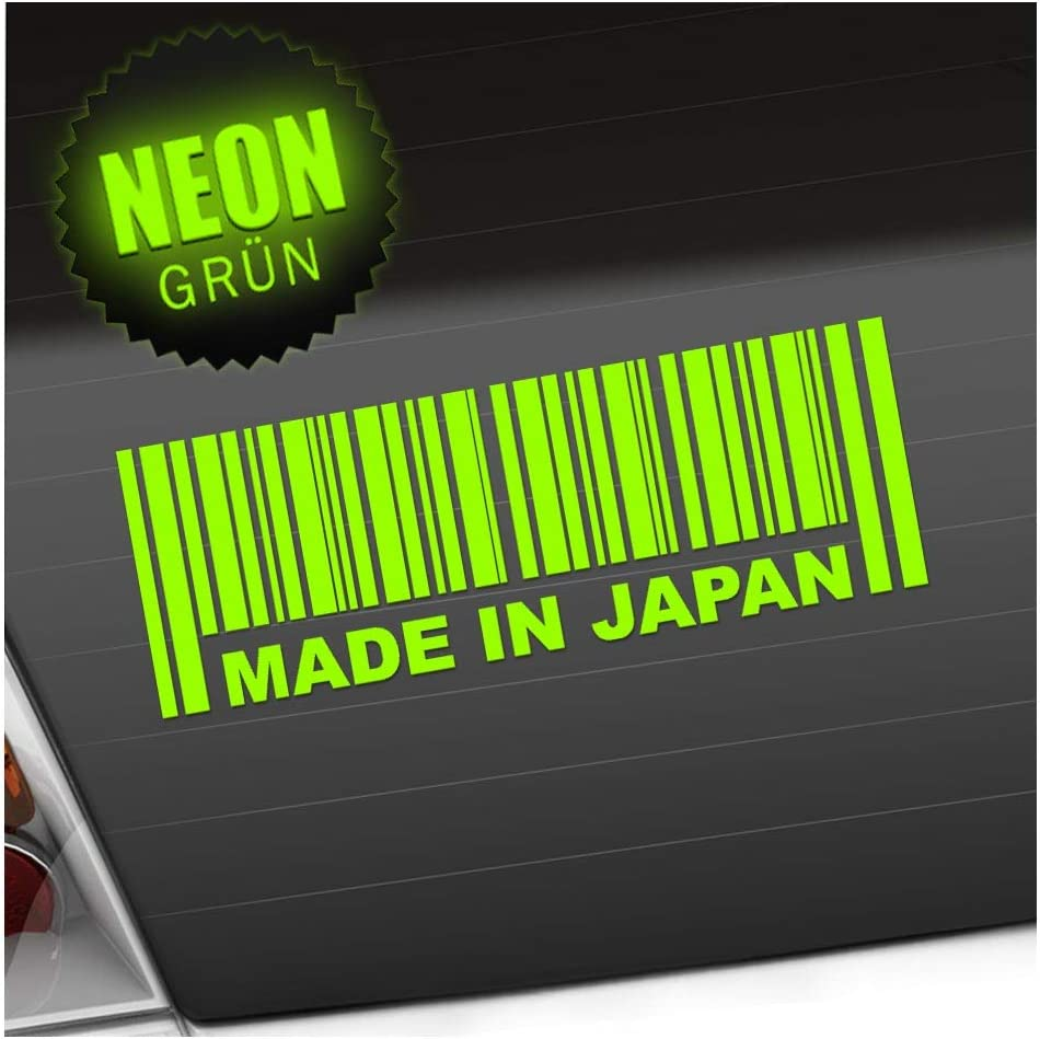 Kiwistar Made In Japan 20 X 7 Cm In 15 Farben Neon Chrom Sticker Aufkleber Auto