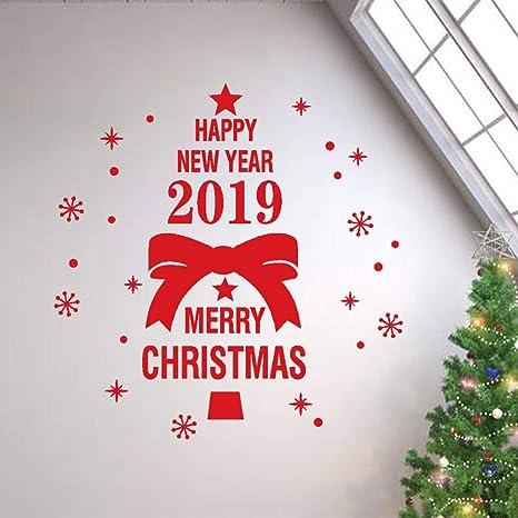 Frasi Per Buon Natale.Frasi Adesive Murali Topgrowth Buon Natale Wall Sticker Decorazione Murali Da Parete Casa Negozio Finestra Decorazioni Pareti