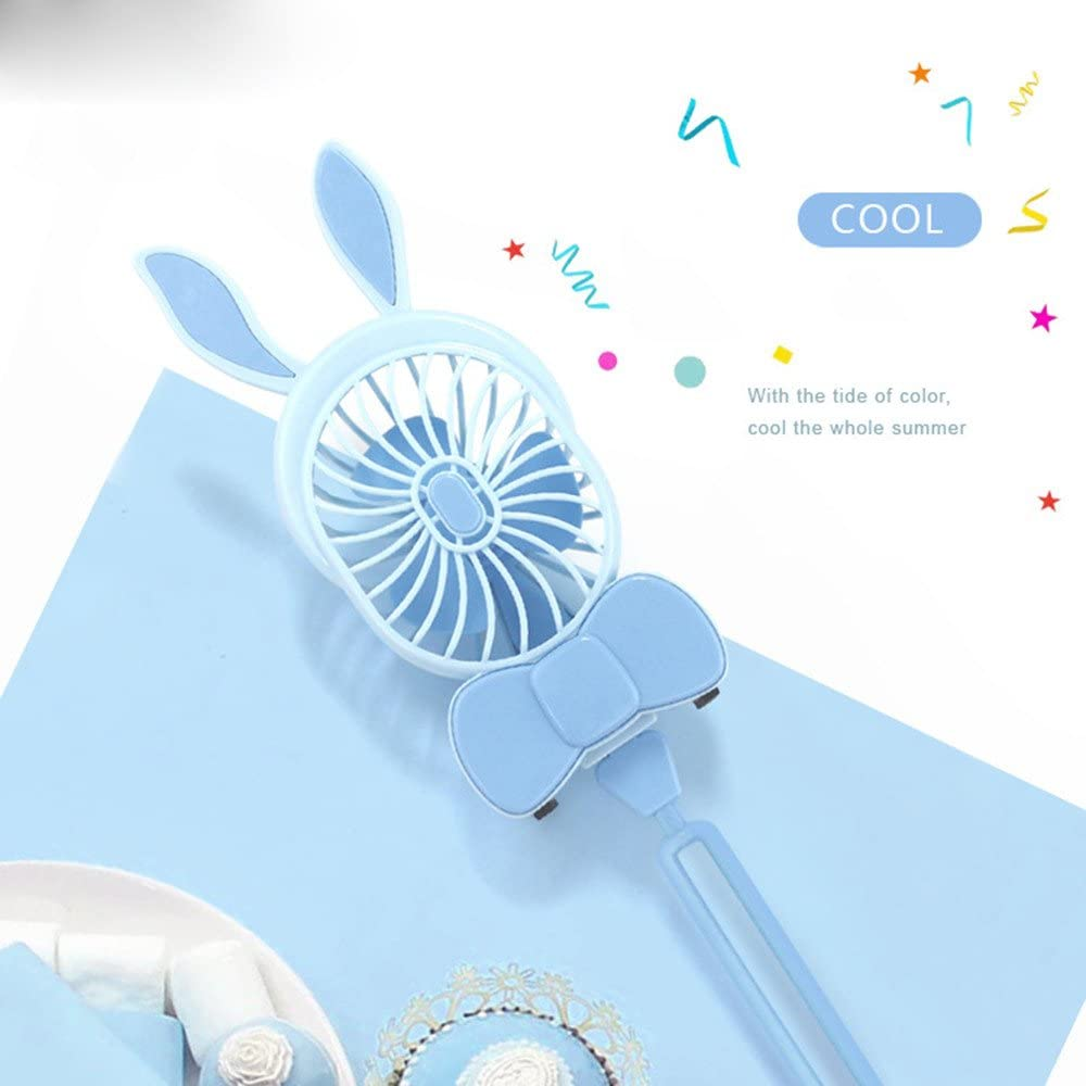 Pgojuni Handheld Folding Fan Mini Handheld USB Fan Portable USB Student Table Fan Travel B
