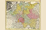 Holy Roman Empire; Antique Map by Homann, 1740