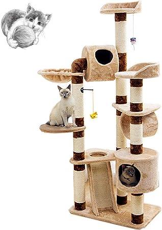Cat tree Árboles para Gatos Torre De Gato Cat Climbing Frame Sisal Plataforma De Salto De Gato Grande One Cat Furniture Área De Juegos: Amazon.es: Hogar