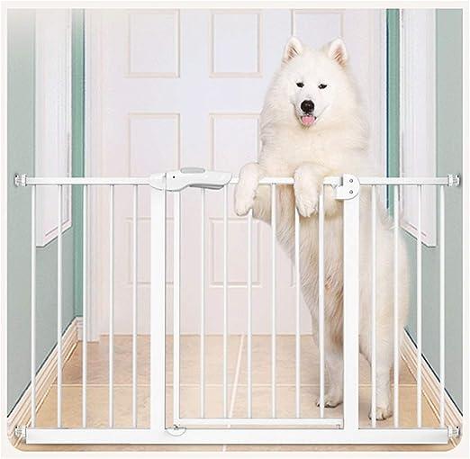 MONYY-FENCE Valla de Seguridad para Puerta de Escalera para niños, sin Cerca, Aislamiento, Valla para Puerta, Valla para Perro, Valla, 2 vías, 66 – 324 cm, Color Blanco: Amazon.es: Jardín