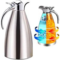 Coffee Pot Heat Cold Retention Carafe Insulated Double Walled Vacuum Dispenser for Coffee Tea Beverage 1.5L