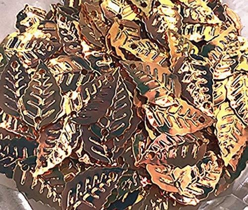 Jienie 30g/Lot Golden Leaf Shape Loose Sequins Paillettes Wedding Craft DIY Navidad Ornaments,Mixed Sequins - (Color: Gold)