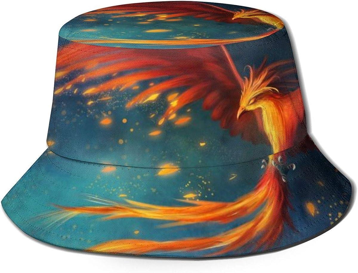 Abstract Red Phoenix Bucket...