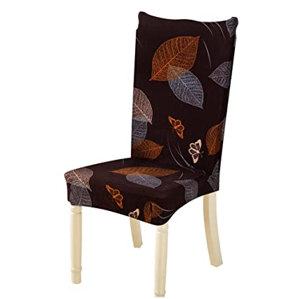 Tomtopp Dining Chair Cover Protector Removable Conjoined Stretchy Floral Chair Seat Cover for Hotel Home Stool (1pc)