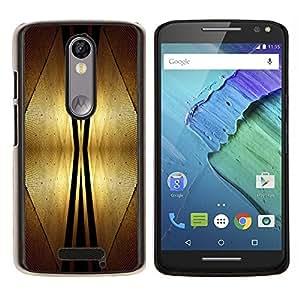 YiPhone /// Prima de resorte delgada de la cubierta del caso de Shell Armor - Espacio Diseño Art Deco de interiores Estilo Futursim - Motorola Moto X3 3rd Generation