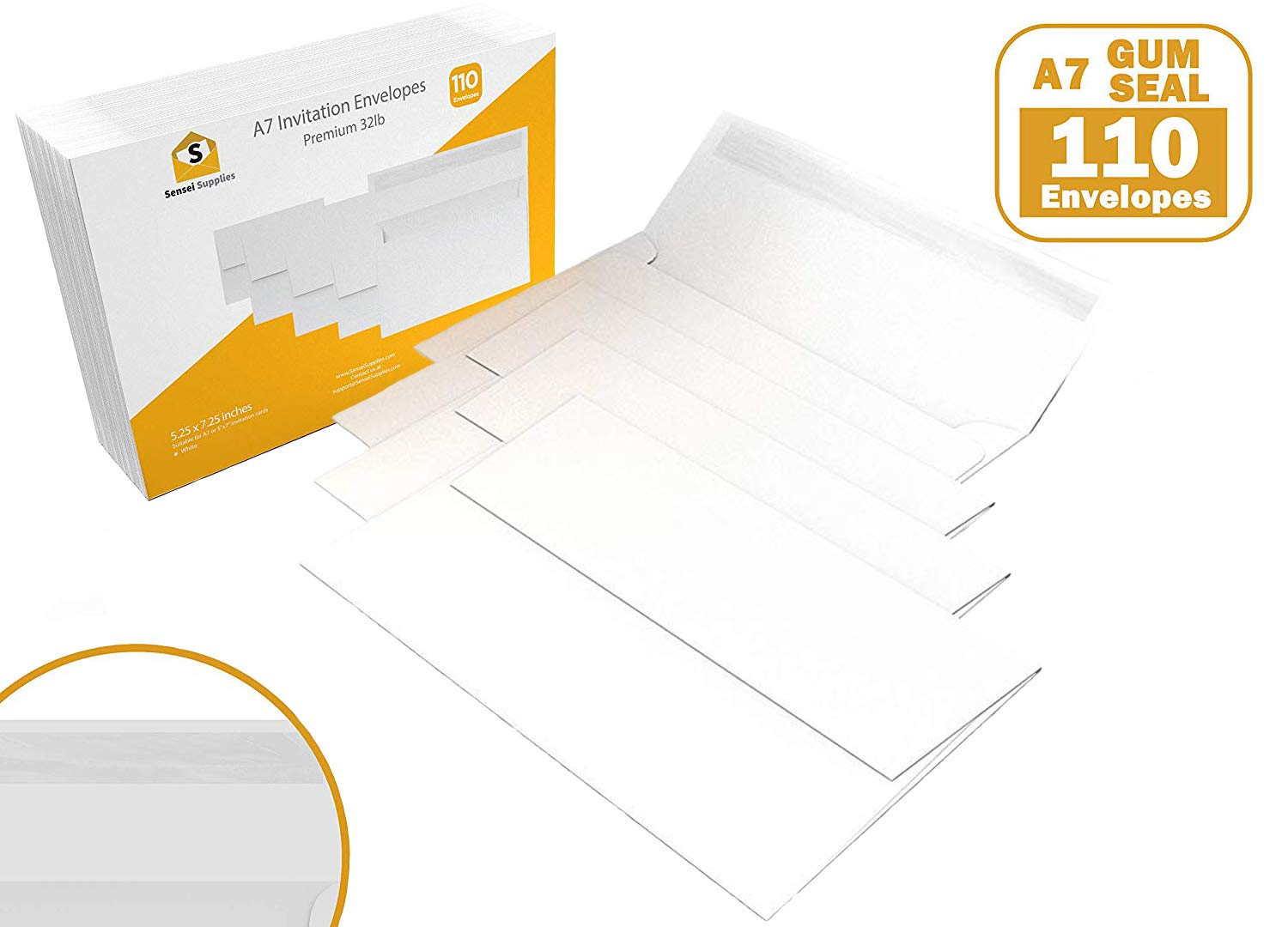 3 5//8 x 5 1//8 inches 55 3.5x5 White Gum Seal Invitation Envelopes for 3.5x5 Cards A1