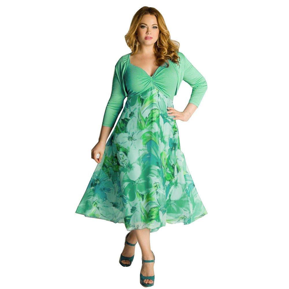 d37e944b808d1 Plus Size Spring Floral Dresses