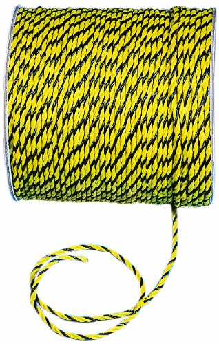 - Mutual 14980 3-Strand Twisted Polypropylene Safety Rope, 1490 lbs Tensile Strength, 600' Length x 1/4