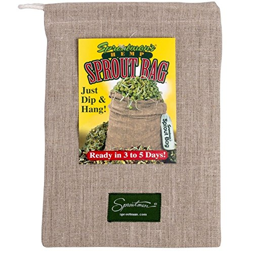 $14.95 Sproutman Hemp Sprout Bag – Just Dip In Water, Hang It Up, Watch It Grow 2019