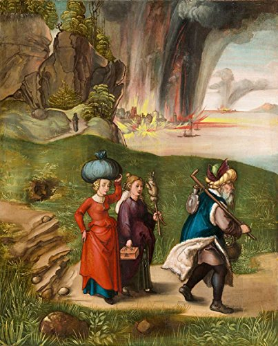 rer | Painting: Lot and His Daughters [reverse] | Date: c. 1496/1499 | Vintage Fine Art Print (Albrecht D ? Rer Painting)