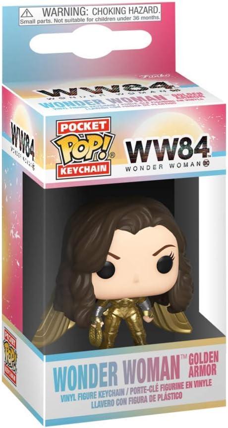 Wonder Woman 1984 KEYCHAIN Wonder Woman Gold No Helmet FUNKO POP