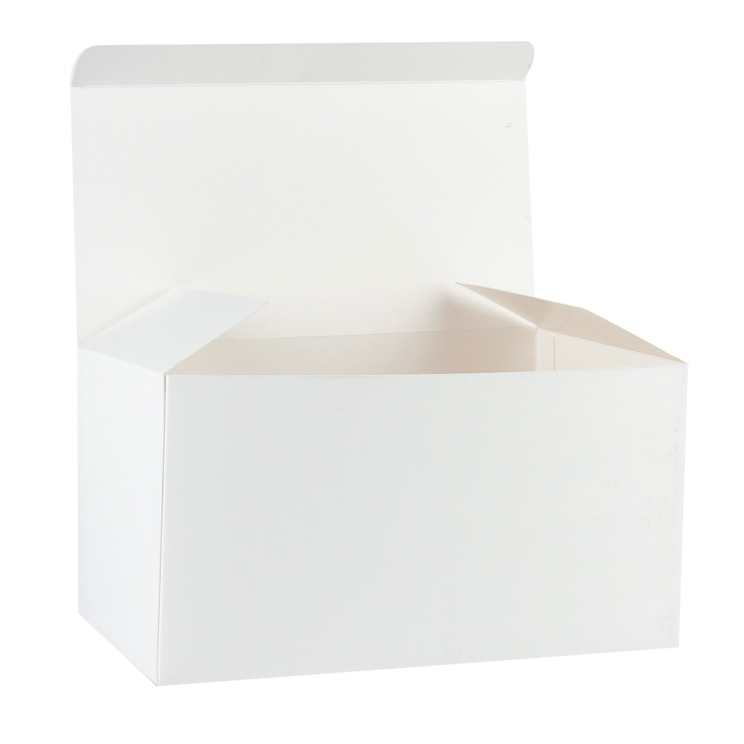 Ruspepa Recycled Cardboard Gift Boxes Large Decorative Box With Lids For Christmas Birthdays Holidays Weddings 12 X6 X6 10 Pack White