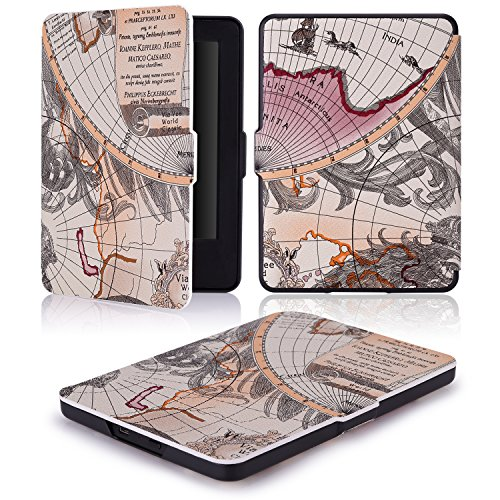 MoKo Case for Amazon Kindle 7th Gen - Ultra Lightweight Shell Case Stand Cover Case for Amazon Kindle 2014 ( 7th Generation ), Map A by MoKo (Image #7)'