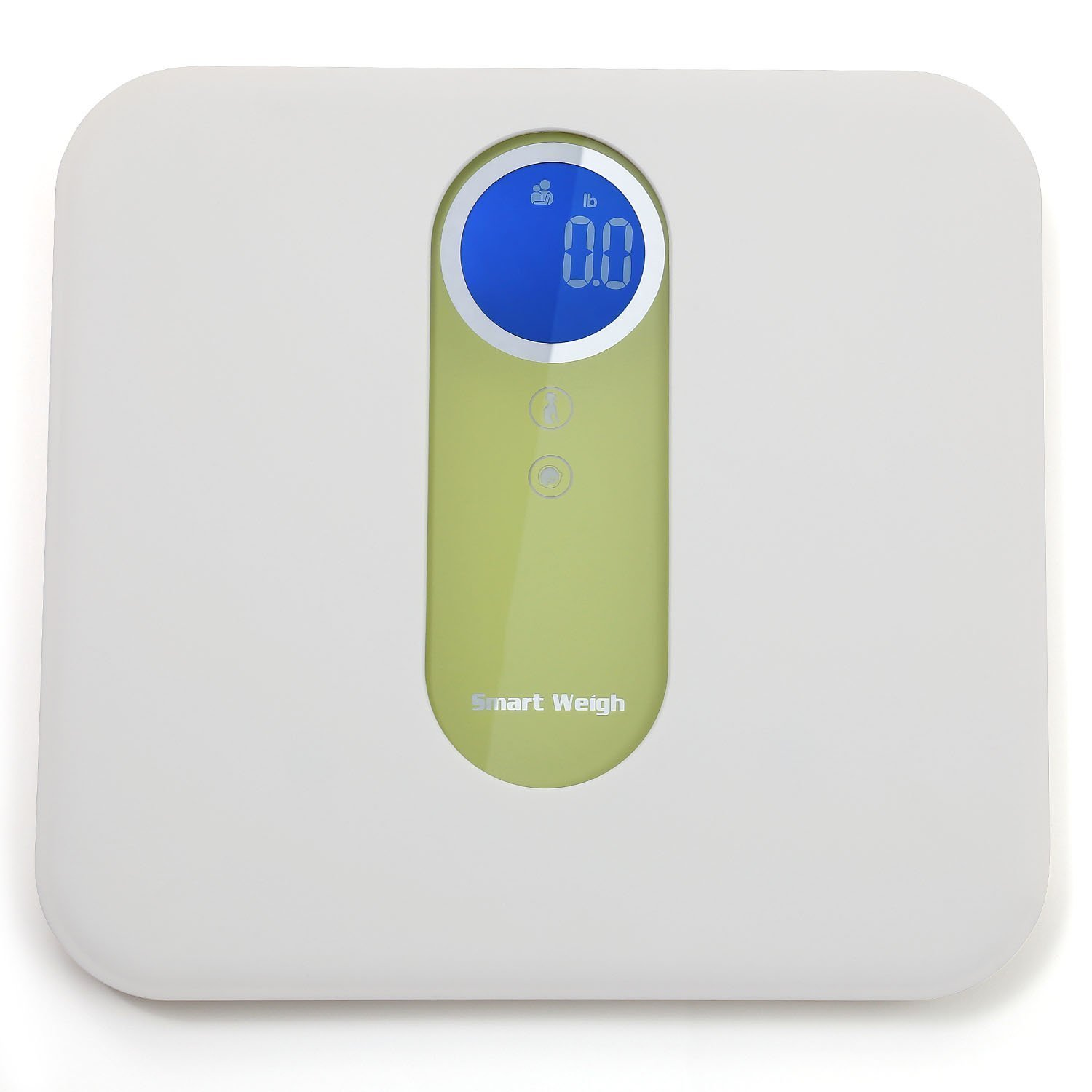 Digital Mother and Baby Bathroom Scale with Ultra Wide Platform, Step-on Technology and LCD Display, 330 lb Capacity Smart Weigh MBS10