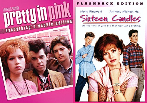 John Hughes Molly Ringwald 2-DVD Bundle - Sixteen Candles (Flashback Edition) & Pretty in Pink (Everything's Ducky - Ford Tom Classes