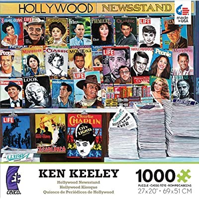 Ceaco Ken Keeley: Hollywood Newsstand - 1000 Piece Jigsaw Puzzle: Toys & Games
