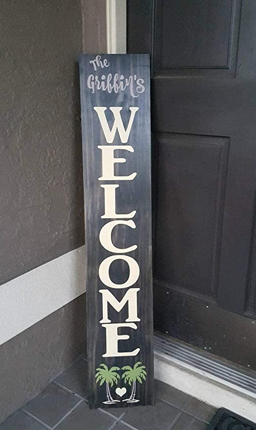 Welcome Porch Sign 5 Feet Type Font