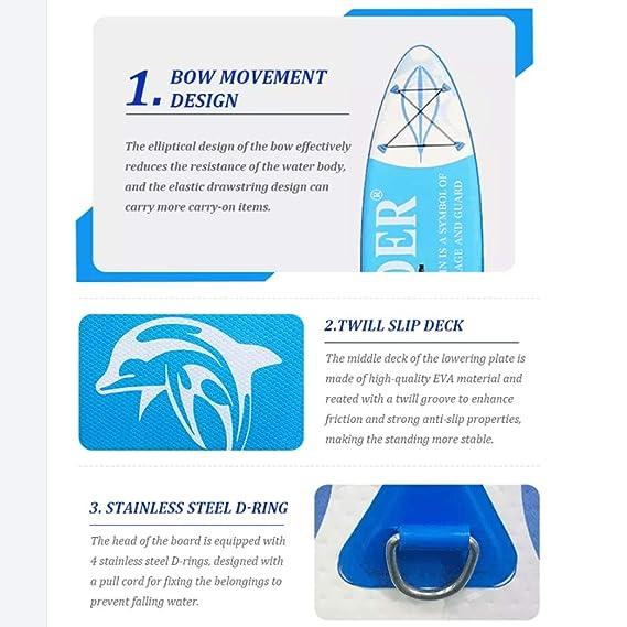 Amazon.com: GYFY Tabla de surf hinchable con soporte y tabla ...