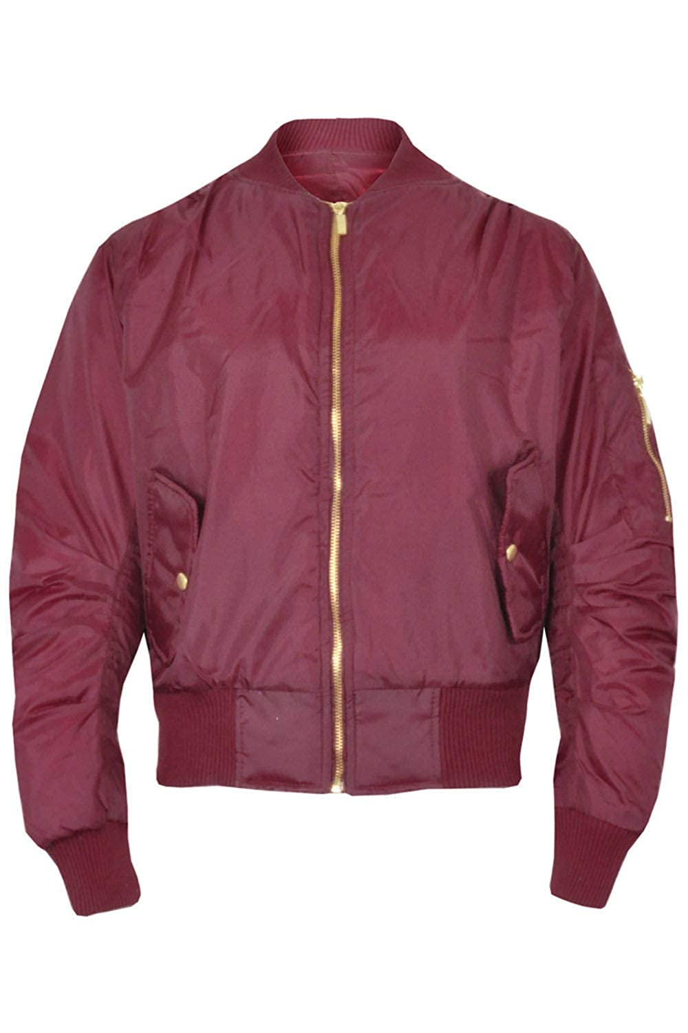 Kids Warm Fully Zipped Front 2 Button Pockets Long Sleeves Padded Quilted Jacket BE JEALOUS