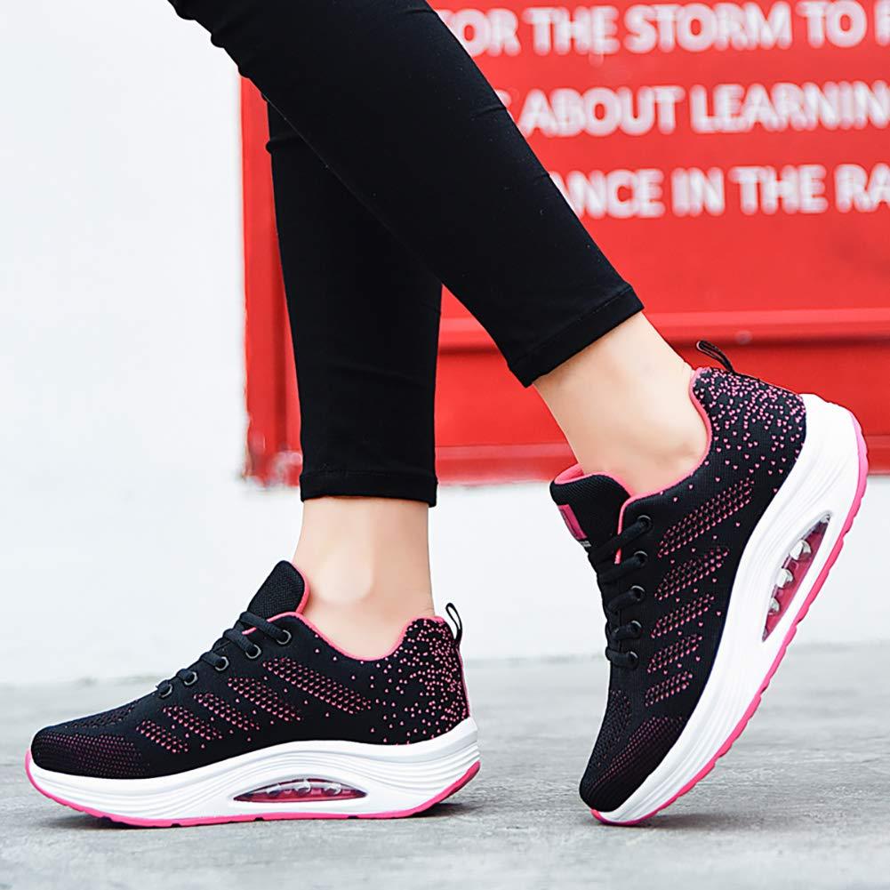 Mesh Slip On Air Cushion Lady Girls Modern Jazz Dance Easy Shoes Platform Loafers EMMARR Womens Walking Shoes Sock Sneakers