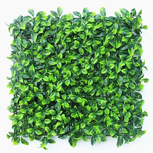 "Naturalgarden Artificial Hedges Panels for Both Outdoor or Indoor, Garden, Fencing, Backyard and Home UV Resistant Decor 20"" x 20"" Home, Wedding, Plaque Decoration (Jasmine, 12pc) from Naturalgarden"