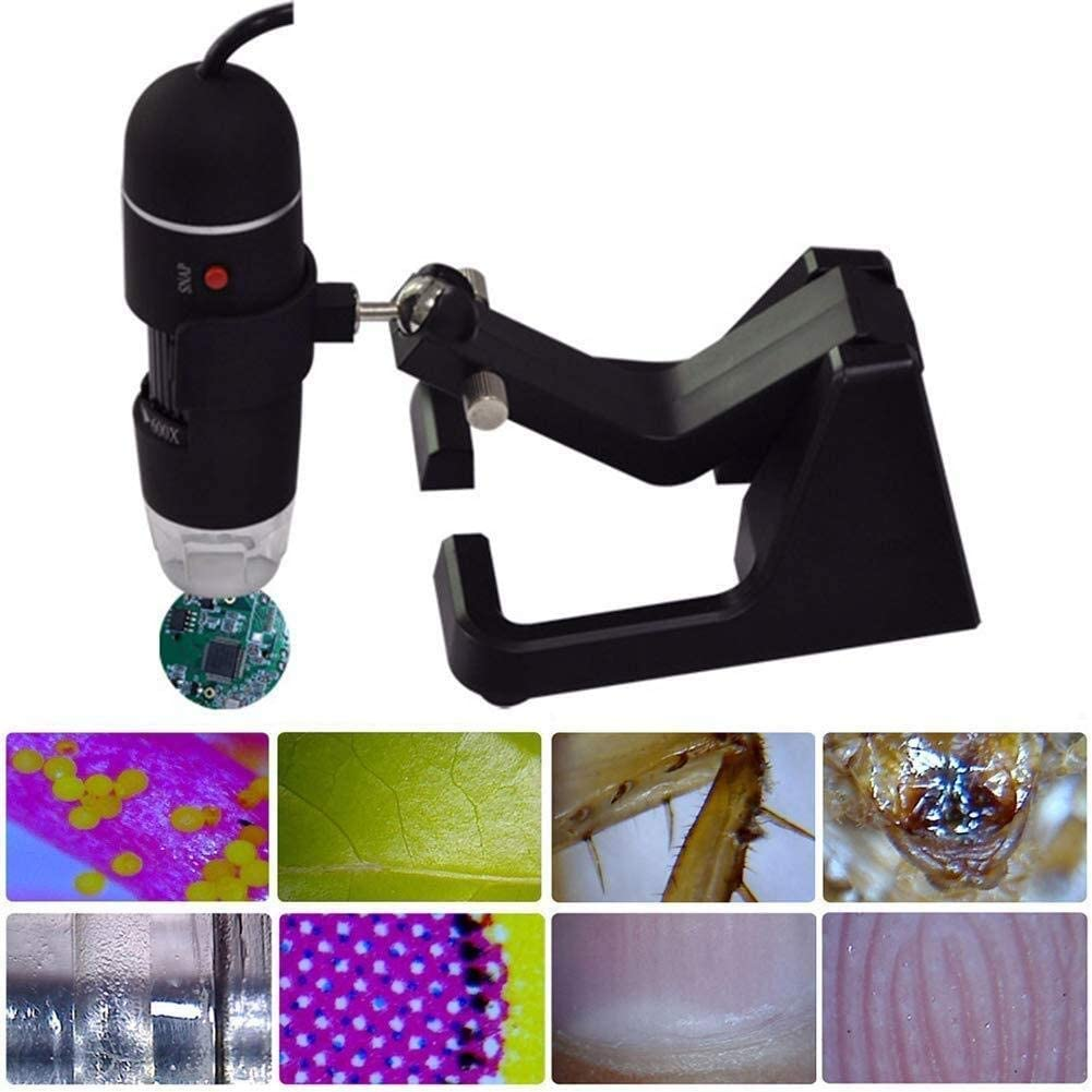 WEI-LUONG Magnifying Glass Magnifier Portable Repairing Tools Digital Continuous 25-600X Durable Microscope Stand USB