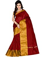 Roopkala Silks & Sarees Women's Poly Cotton With Blouse Piece (Sh-1313_Maroon)