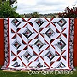 Pattern,Quilt,Cross Breeze, multi sizes, by Cozy