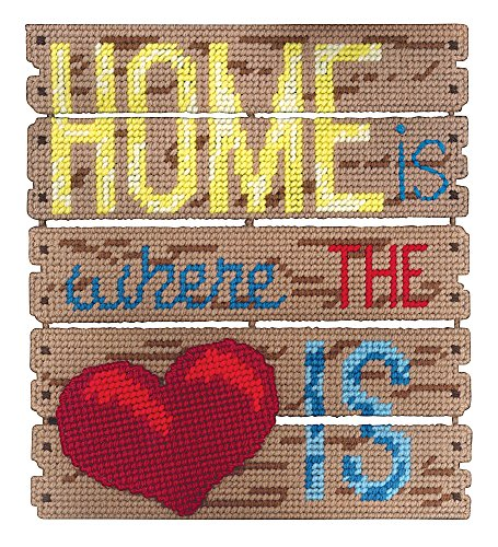 Janlynn Home Is Where The Heart Is Pallet-ables Plastic Canvas Kit