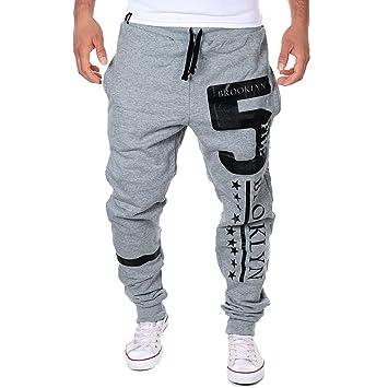 Pantalones de Hombre Casuals Chino Deporte Joggers Pants Algodón Slim Fit  Jeans Cargo Trouser Sonnena chandal 0c7c164cb10e