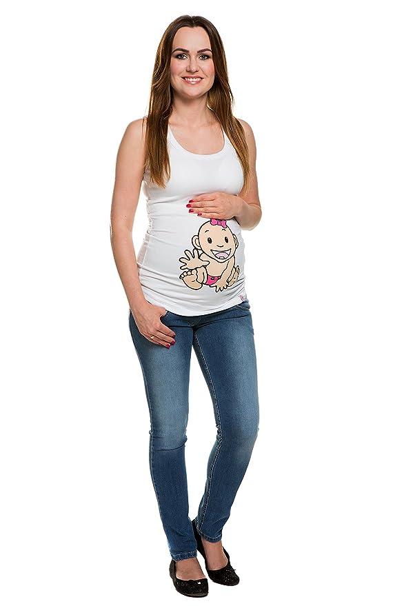 6864114a47bb My Tummy Pantaloni Premaman Drew Jeans Blu S (Small) Abbigliamento Premaman   Amazon.it  Abbigliamento