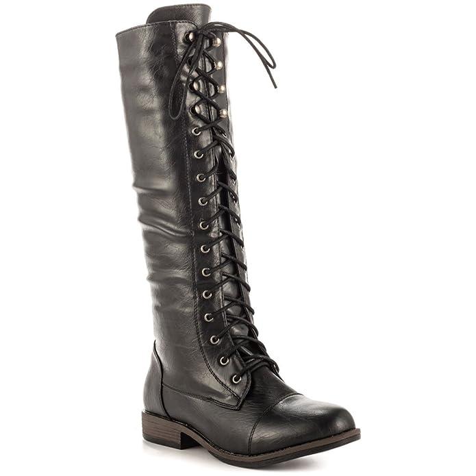 es Zapatos Negro Negro Just Mujer Botas Fab Amazon Justfab Para UwaFnTpq