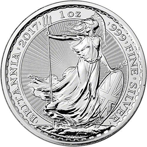 - 2017 UK Great Britain Silver Britannia 1 oz Brilliant Uncirculated Royal Mint