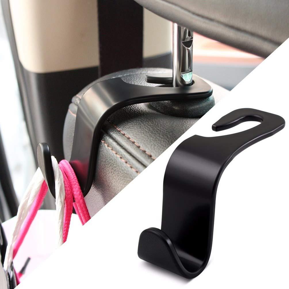 WEWESALE 4PCS Car Headrest Hooks Durable Back Seat Hangers Car Hooks Vehicle Hooks Purse Hooks Portable Organizer Holder for Handbag