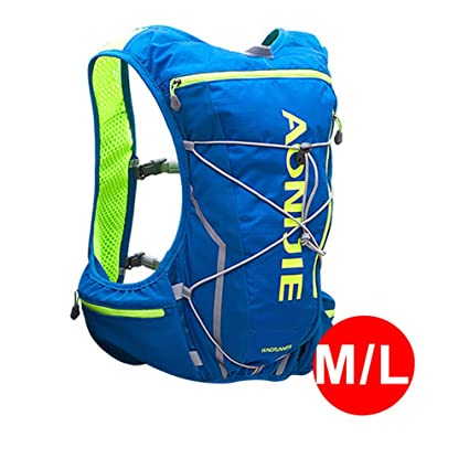 XUSHSHBA Men Women Nylon 10L Outdoor Bags Hiking Backpack Vest Professional Marathon Running Cycling Backpack Bag