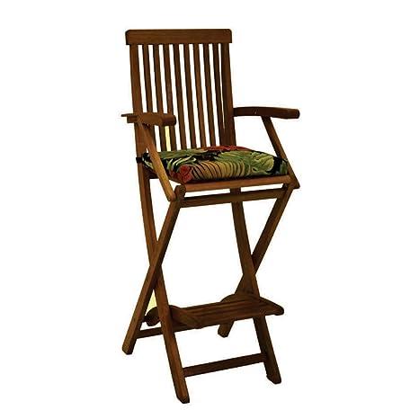 Amazon.com: Bar Altura plegable Patio Cojín de silla Color ...