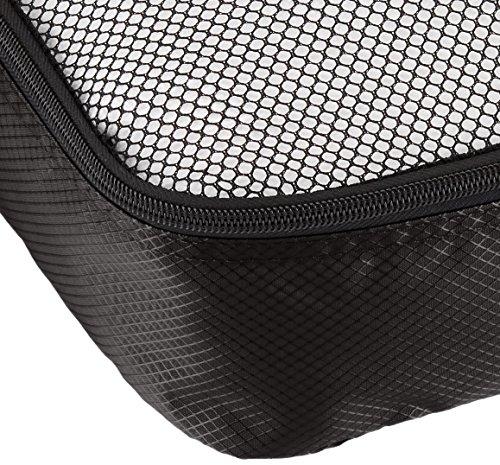 AmazonBasics Packing Cubes/Travel Pouch/Travel Organizer - Medium, Black (4-Piece Set)