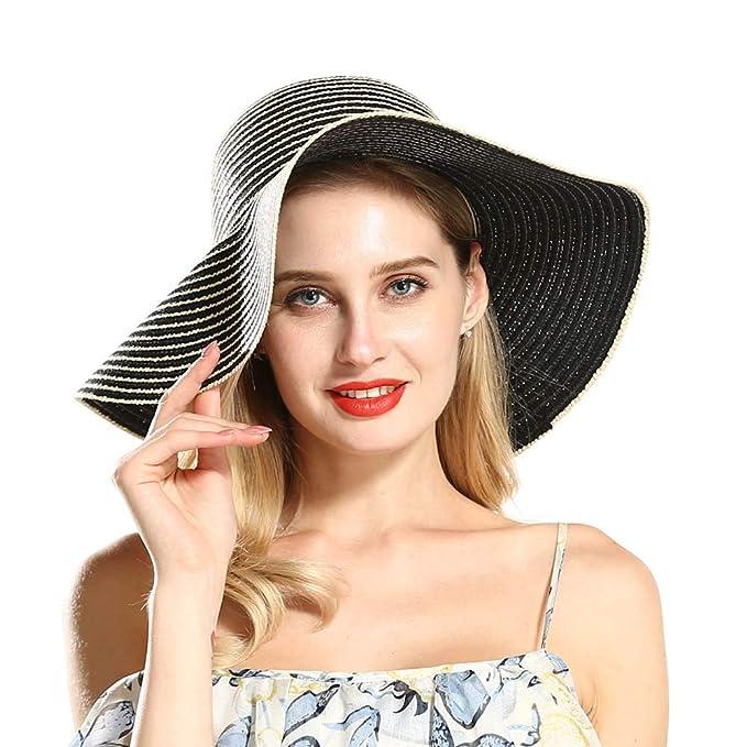 db0d4dfd6 Floppy Straw Hat Wide Brim Large Brim Sun Hat Women Summer Beach Cap ...
