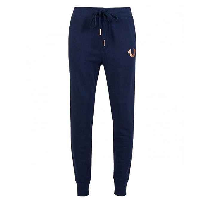 True Religion MSDBW6C067 - Pantalones de chándal con Logo de Oro ...