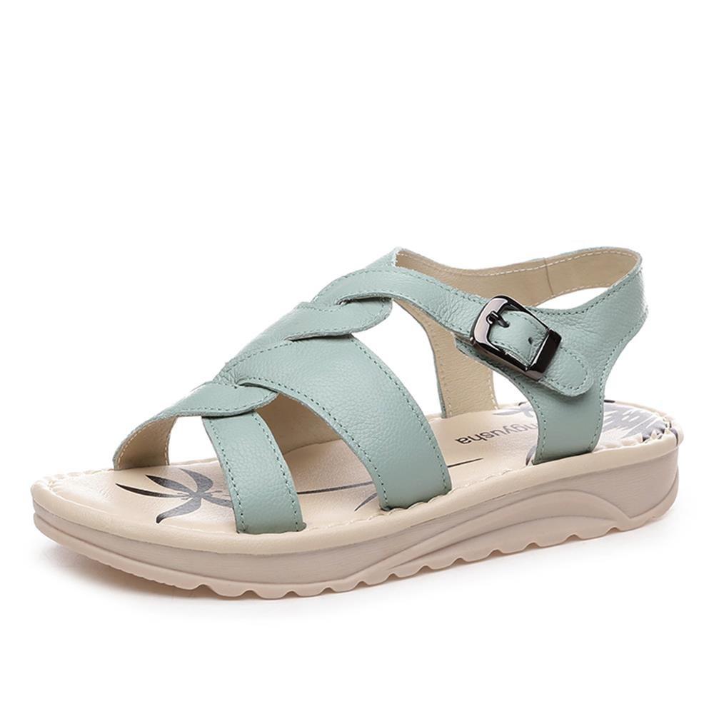 ALUK- Chaussures de plage Bottom ( Couleur : Vert clair , taille : 37 )