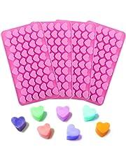 4 moldes de silicona con forma de corazón para bombones de chocolate, decoración de dulces