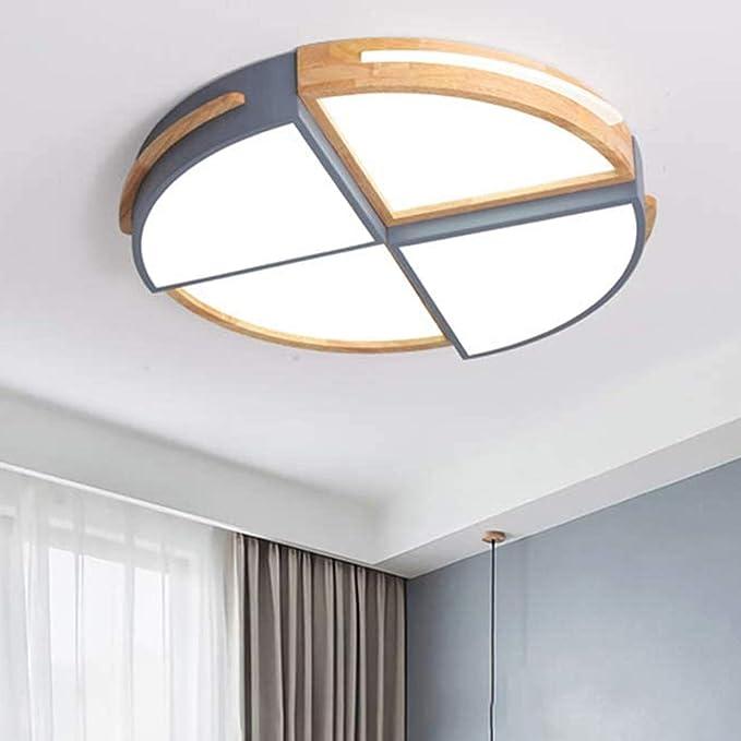 Lampada da soffitto a LED rotonda in legno, Plafoniera ...