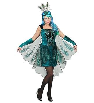 5004e57e7bfa3 shoperama 3-teiliges Pfau Damen Kostüm Kleid Federn Kopfschmuck ...