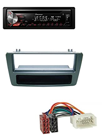 Pioneer DEH-3900BT MP3 CD AUX Bluetooth USB Auto Radio para Honda Civic hasta 03, plateado: Amazon.es: Electrónica