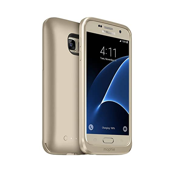 separation shoes 9e8a0 d967e Amazon.com: Mophie Juice Pack Battery Case for Galaxy S7 Gold ...