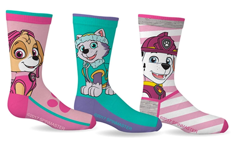Paw Patrol Girls Sport Socks 3 Pairs Size 5-7 Gertex