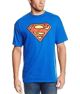 : Superman Shield Classic Logo M blau Superman Damen T-Shirt Girlie