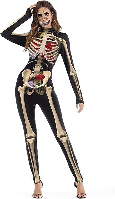 Aniwon Mono De Halloween Esqueleto Traje De órgano De Cuerpo ...